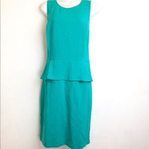 Ann Taylor Loft Womens Size 14 Peplum Aqua Dress
